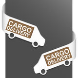 Left and right side sign - Cargo delivery Royalty Free Stock Photos
