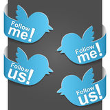 Left and right side sign - Follow me and Follow us Royalty Free Stock Photography