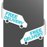 Left and right side sign - FREE DELIVERY vector illustration