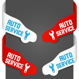 Left and right side signs - Auto service Royalty Free Stock Images