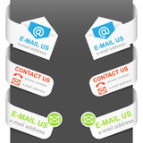 Left and right side signs - Contact us Stock Photography