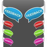 Left and right side signs - Feedback Royalty Free Stock Photography