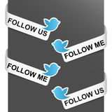 Left and right side signs - Follow me Stock Photo