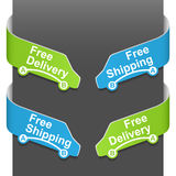 Left and right side signs - Free delivery Royalty Free Stock Image