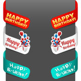 Left and right side signs - Happy Birthday. Vector illustration Royalty Free Stock Image