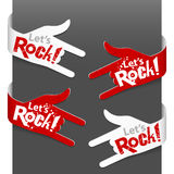 Left and right side signs - Let\\\'s Rock! Royalty Free Stock Photos