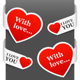 Left and right side signs - With love Stock Photos