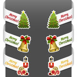 Left and right side signs - Merry Christmas Stock Photo