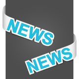 Left and right side signs - News Stock Image