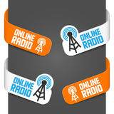 Left and right side signs - Online radio Stock Images