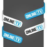 Left and right side signs - Online tv Royalty Free Stock Photo