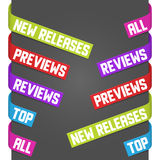 Left and right side signs - Previews, Reviews Royalty Free Stock Photos
