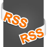 Left and right side signs - Rss Royalty Free Stock Photography