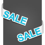 Left and right side signs - Sale Stock Photo