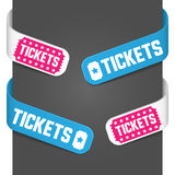 Left and right side signs - Tickets. Vector illustration Royalty Free Stock Photos