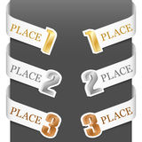 Left and right side signs - Trophy numbers Stock Image
