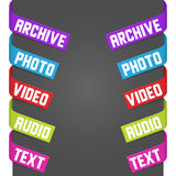 Left and right side signs - Video, Audio, Photo Royalty Free Stock Image