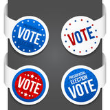 Left and right side signs - Vote Stock Images