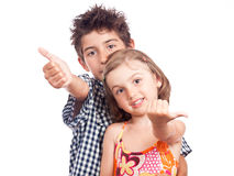 Left or right sign children Royalty Free Stock Photography