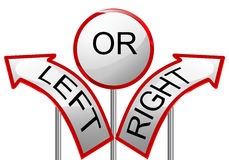 Left or right Royalty Free Stock Photos