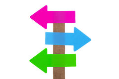 Left - Right signpost Stock Images