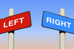 Left and right signs Royalty Free Stock Photos