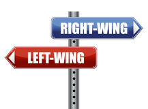 Left and right wing sign illustration Stock Image