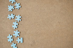 Left side abstract simple puzzle game pieces. Royalty Free Stock Photos