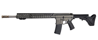 Left side AR15 / M16 with extended collapsible stock, 18` barrel stock images