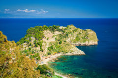 Left side of the beach Isola Bella Stock Images