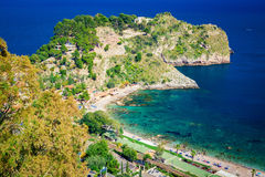 Left side of the beach named Isola Bella Royalty Free Stock Images