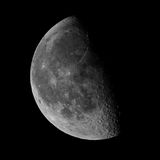 Left side Moon lunar phase Royalty Free Stock Photography