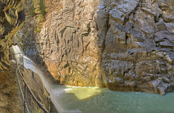 Left side Roffla canyon Switzerland Royalty Free Stock Images