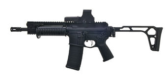 Left side SBR M16/AR15 with folding stock, 8` barrel Royalty Free Stock Images