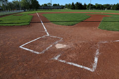 Left Side View of a Baseball Field Royalty Free Stock Photography
