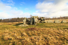 Left side view of a megalith grave Royalty Free Stock Image