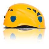 Left Side View Of Orange Climbing Helmet Royalty Free Stock Photo