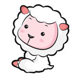 The Left sit Sheep Mascot. The East Twelve zodiac Character Desi Stock Photo