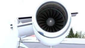 Left small jet engine stock footage