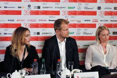 Actors from Finland at Moscow International Film Festival Royalty Free Stock Image