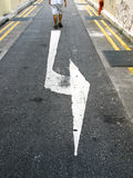 Left Turn Arrow Stock Images