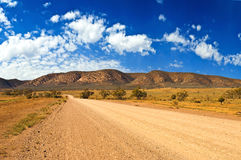 Left turn in the outback Royalty Free Stock Photos