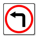 Left turn road sign Royalty Free Stock Image