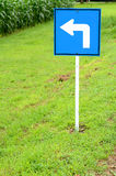 Left turn road sign Royalty Free Stock Images