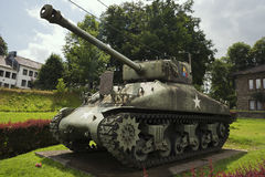 Left view of the Sherman tank from the 7th Armoured Division Royalty Free Stock Images