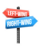 Left-wing and right-wing road sign Stock Photo