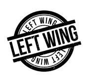 Left Wing rubber stamp Stock Photography