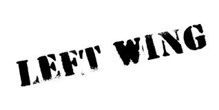 Left Wing rubber stamp Stock Photo