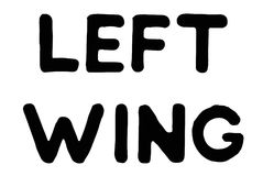 Left Wing typographic stamp. Typographic sign, badge or logo Stock Photography