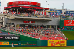 Leftfield bleachers at Nationals Park. View of the left field bleachers at Nationals Park, Washington, DC Stock Image